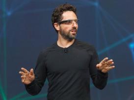 Sergey Brin, Google co-founder, wearing Google Glass