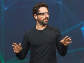 Sergey Brin, Google co-founder, wearing Google Glass